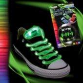 Green LED and Light-Up Shoe Laces - 1 Pair