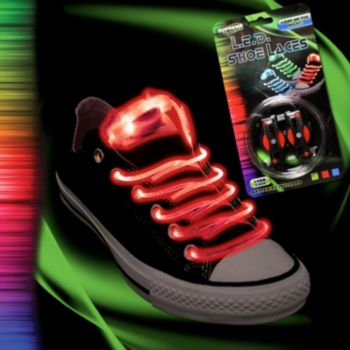 Flashing Red LED Shoe Laces