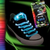 Flashing Blue LED Shoe Laces