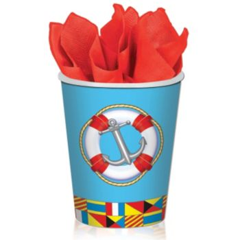 Nautical Theme 9 oz. Cups