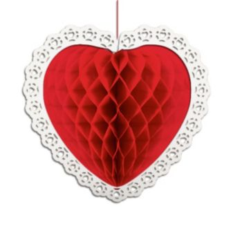 Heart Shape Honeycomb Decorations