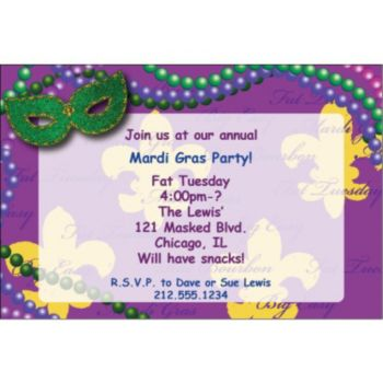 Bourbon Street Personalized Invitations