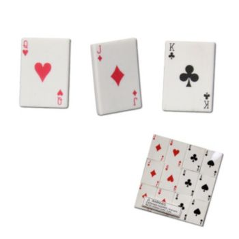 Playing Card Erasers