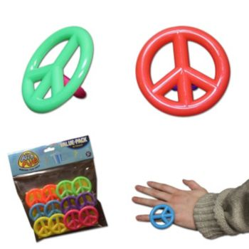 Peace Sign  Child Size Rings