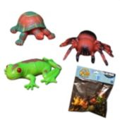 Plastic Reptiles & Spiders - 12 Pack