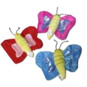 "Plush Butterflies-7"" - 12 Pack"