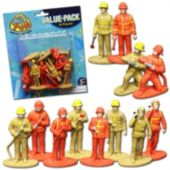 "Firefighter Toy 2 1/2""  Figures - 12 Pack"