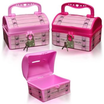 Pink Plastic  Treasure Chests