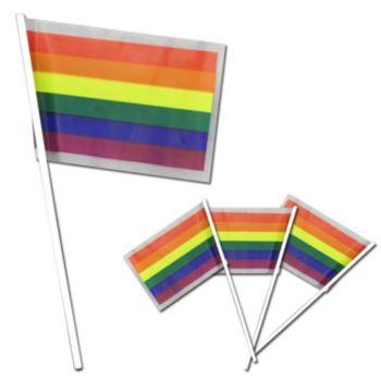 Rainbow Plastic Flags