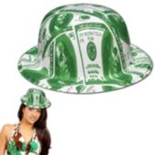 $100 Bill Plastic Derby Hats - 12 Pack