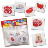 "Valentine's Day Puffy 1 1/5"" Stickers-72 Pack"