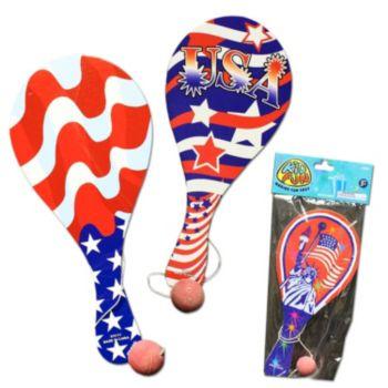 Patriotic Paddle Balls