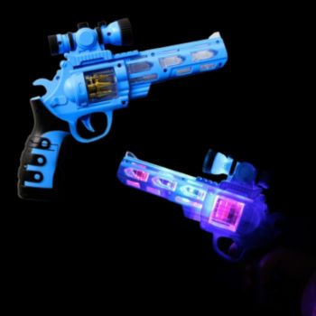 Flashing LED Toy Gun with Scope
