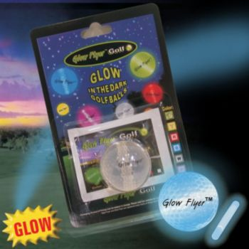 BLUE GLOW FLYER GOLFBALL w1 MINI LIGHTSTICK (Retail Blister Card)