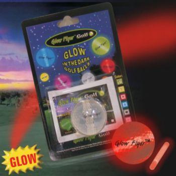 RED GLOW FLYER GOLFBALL w 1 MINI LIGHTSTICK (Retail Blister Card)