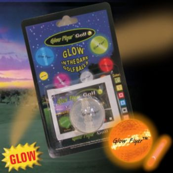 ORANGE GLOW FLER GOLFBALL w 1 MINI LIGHTSTICK (Retail Blister Card)