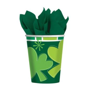 Irish Shamrocks 9 oz Cups