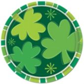 Irish Shamrocks 9 Inch Plates