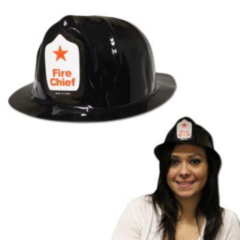 Black Fireman  Plastic Hats