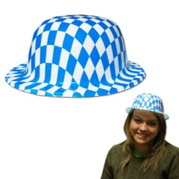 Oktoberfest Plastic Derby Hats - 12 Pack