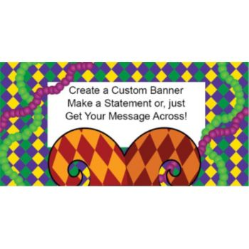 Mardi Gras Jester Custom Banner