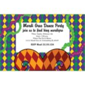 Mardi Gras Jester Personalized Invitations