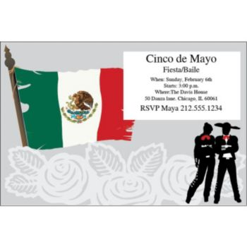 Mexican Cinco de Mayo Personalized Invitations