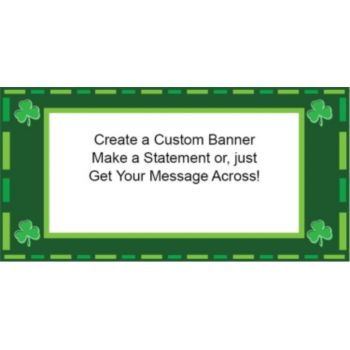 Irish Shamrocks Custom Banner