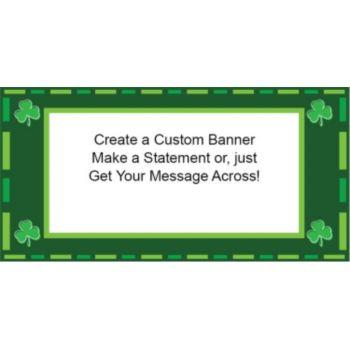 Irish Shamrocks Custom Banner