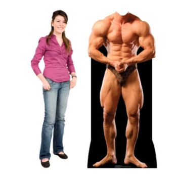 Muscle Man Cardboard Stand Up