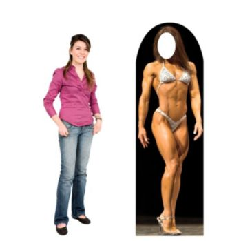 Muscle Woman  Cardboard Stand Up