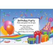 Birthday Presents Personalized Invitations