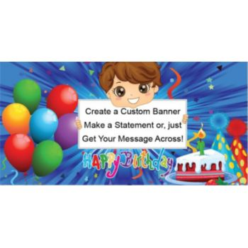 Birthday Boy Custom Banner