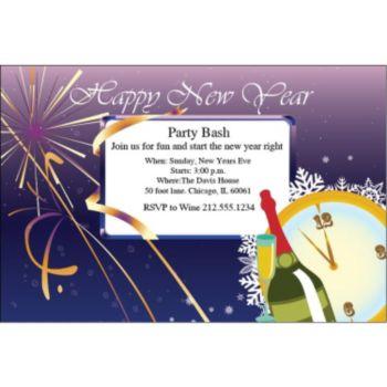 New Years Celebration Personalized Invitations