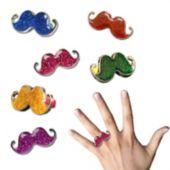 Glitter Mustache Rings
