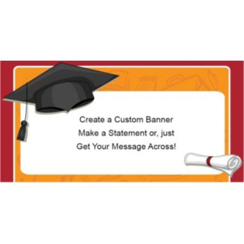 Graduation Cap Custom Banner