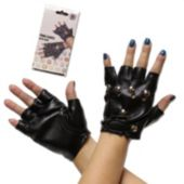 Black Fingerless Gloves - 1 Pair