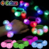 Assorted Color LED Porcupine Bracelets - 12 Pack