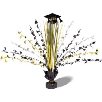 Congrats Grad Black Gold & Silver Centerpiece
