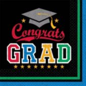 Congrats Graduate Beverage Napkins - 36 Pack
