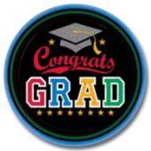 Congrats Graduate 9 Inch Plates