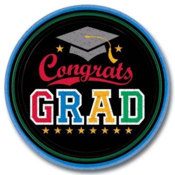 """Congrats Graduate  9"""" Plates"""