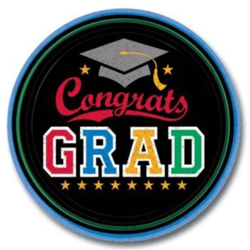 """Congrats Graduate  7"""" Plates"""