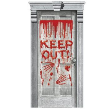 Keep Out Bloody Door Gore Cover