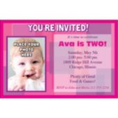 think Pink Photo Personalized  Invitations
