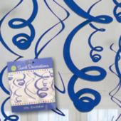 Royal Blue Hanging Swirls