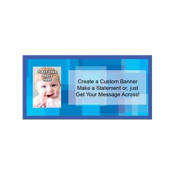 Just Blue Custom Photo Banner