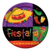 "Festive Fiesta 8 3/4"" Plates - 8 Pack"