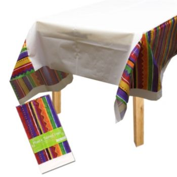 Festive Fiesta  Plastic Table Cover