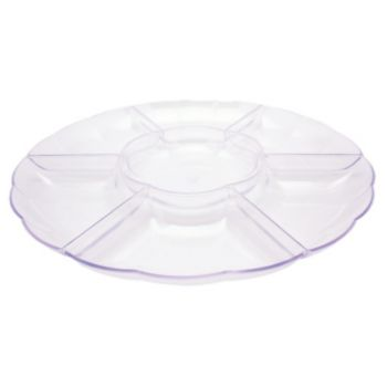 Clear Sectional  Snack Tray
